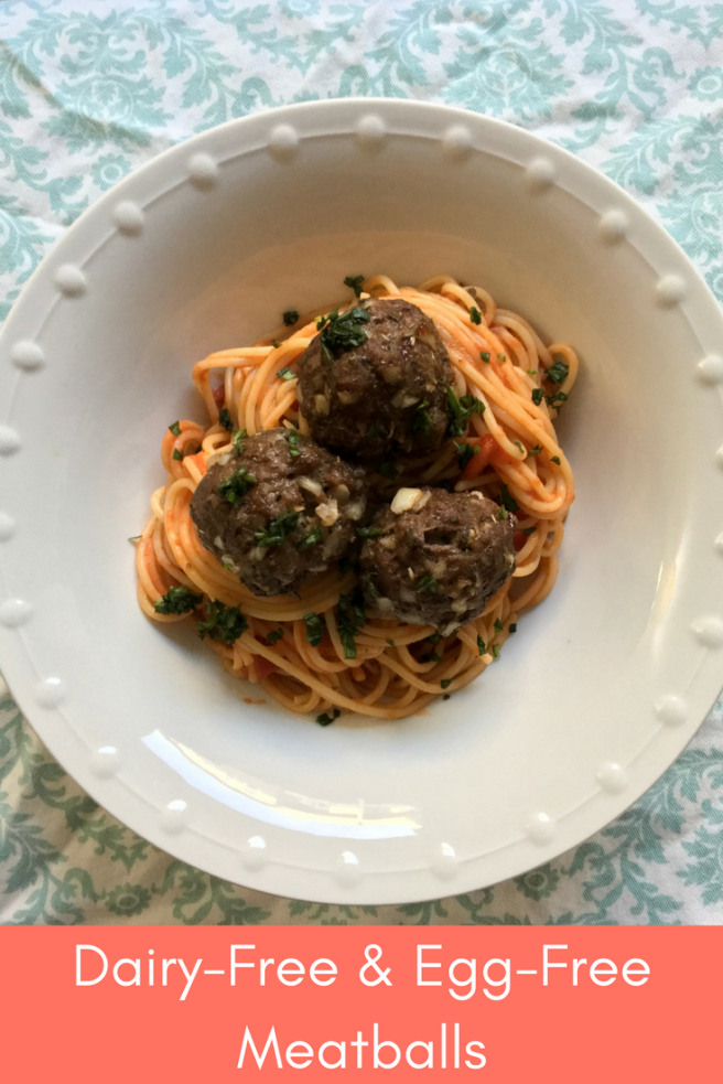 Dairy Free Egg Free Meatballs