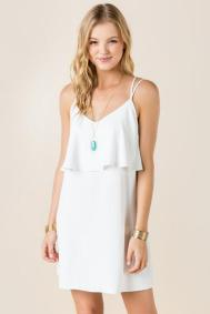 Flowy little white dress