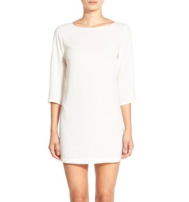 Little white shift dress