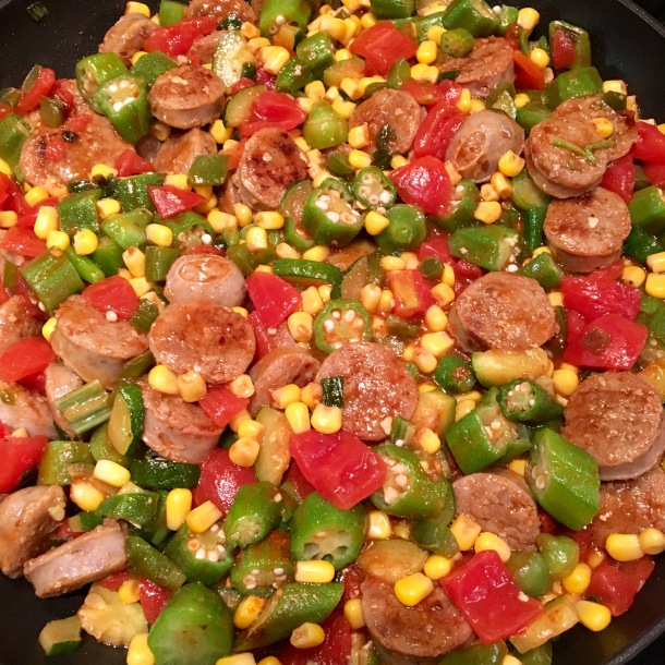 homemade-sausage-and-veggie-skillet