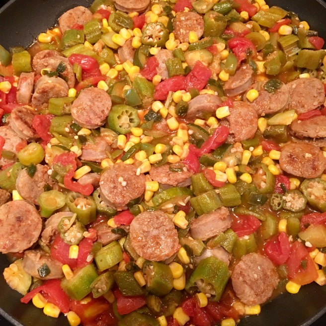 sausage-and-okra-skillet