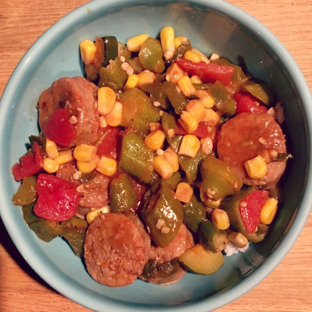sausage-and-veggie-skillet