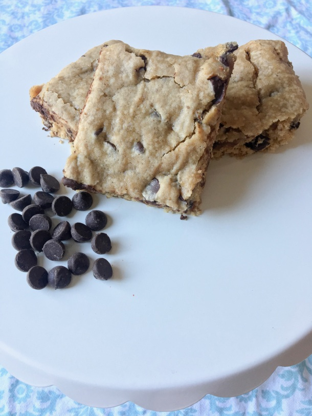 Dairy Free Chocolate Chip Blondies