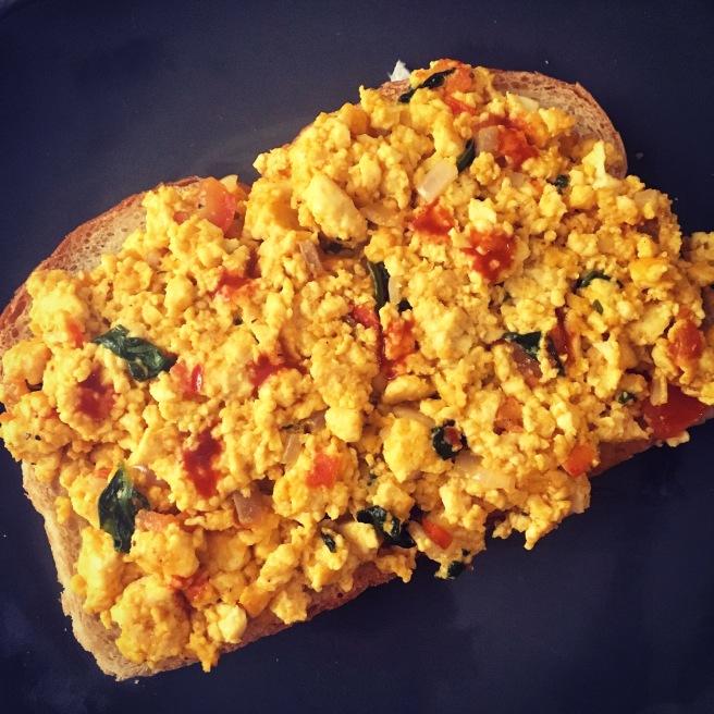 tofu-scramble-on-toast