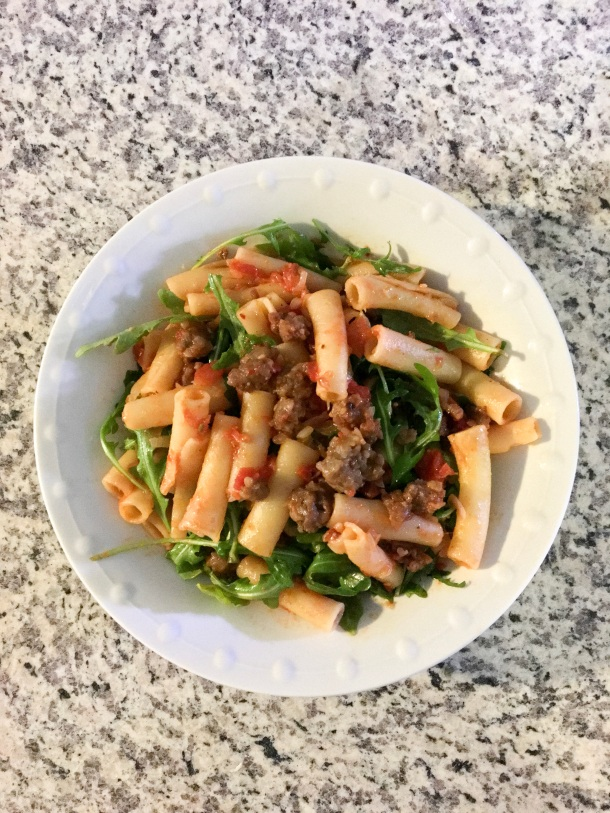 Sausage and Arugula Pasta