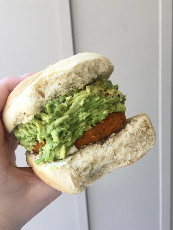 White Bean and Sweet Potato Veggie Burger