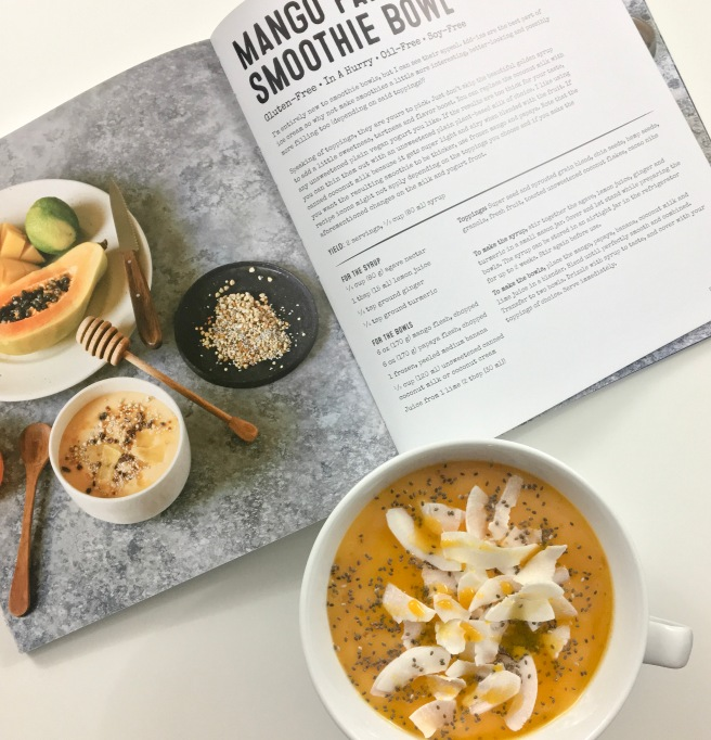 Bold Flavored Vegan Mango Papaya Smoothie Healthy Bowl