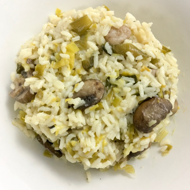 Leek and Mushroom Rice