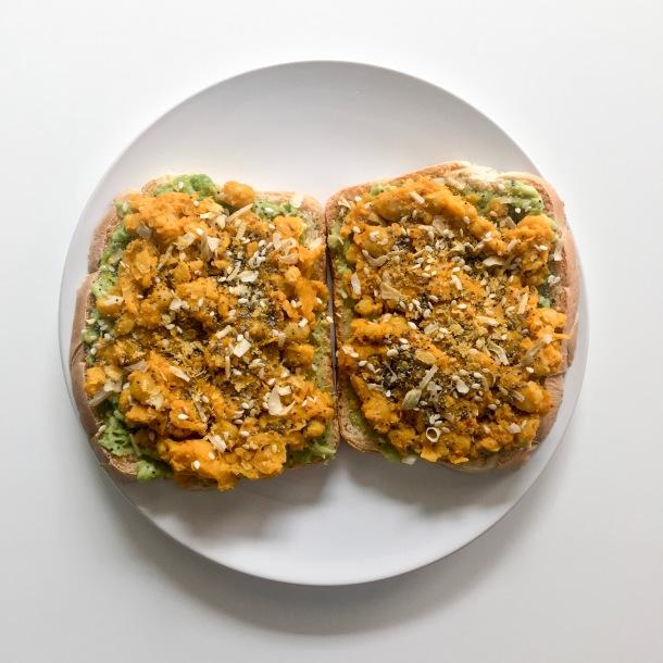 Smashed Chickpea Avocado Toast