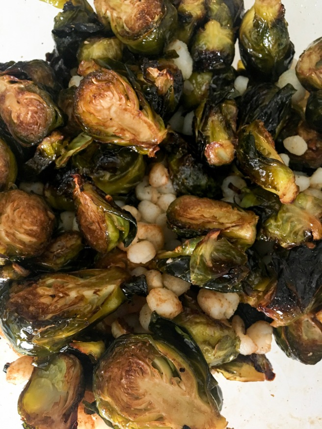 Brussel Sprouts and Hominy
