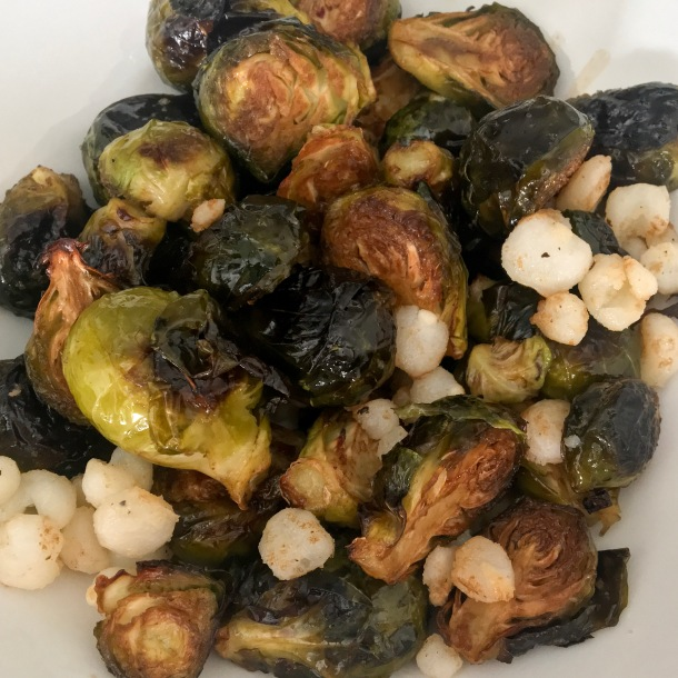 Brussel Sprouts with Hominy