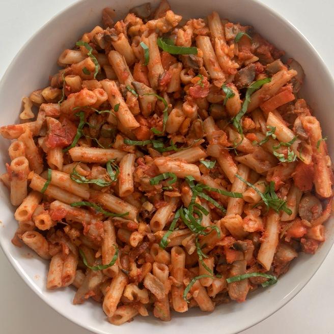Mushroom Walnut Bolognese Pasta