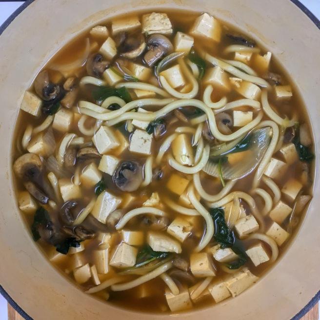 One Pot Veggie Udon Soup Recipe