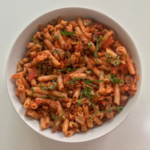 Walnut Mushroom Bolognese Pasta.JPG