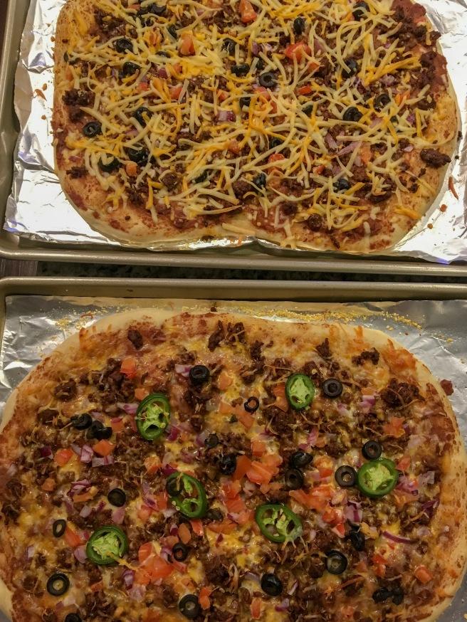 Homemade Taco Pizza