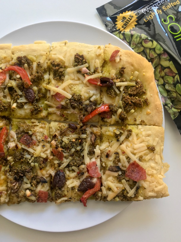 Wonderful Pistachio Basil Pesto Pizza