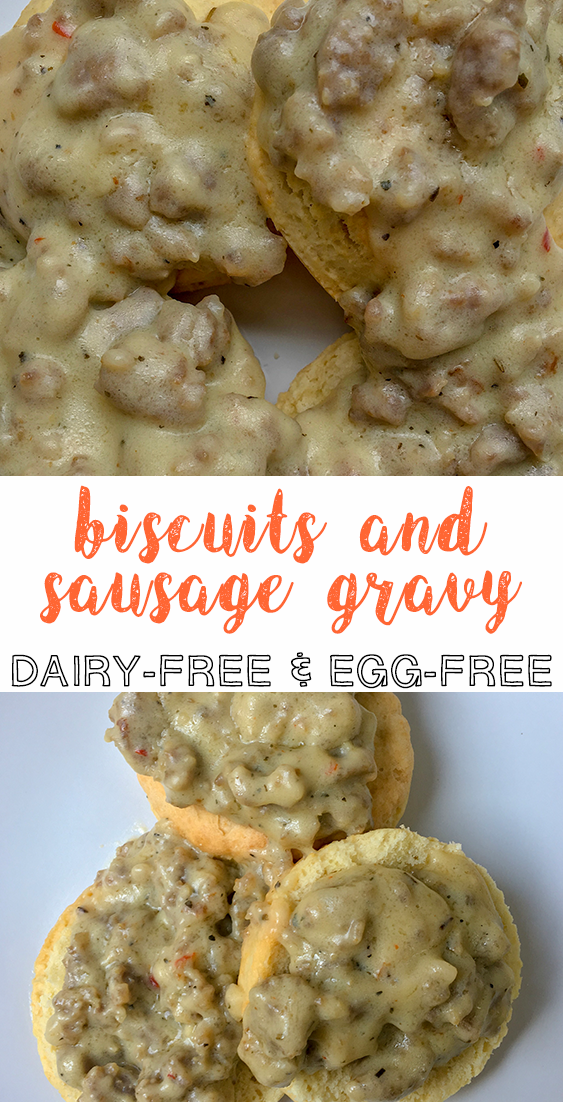 biscuits and sausage gravy dairy free egg free