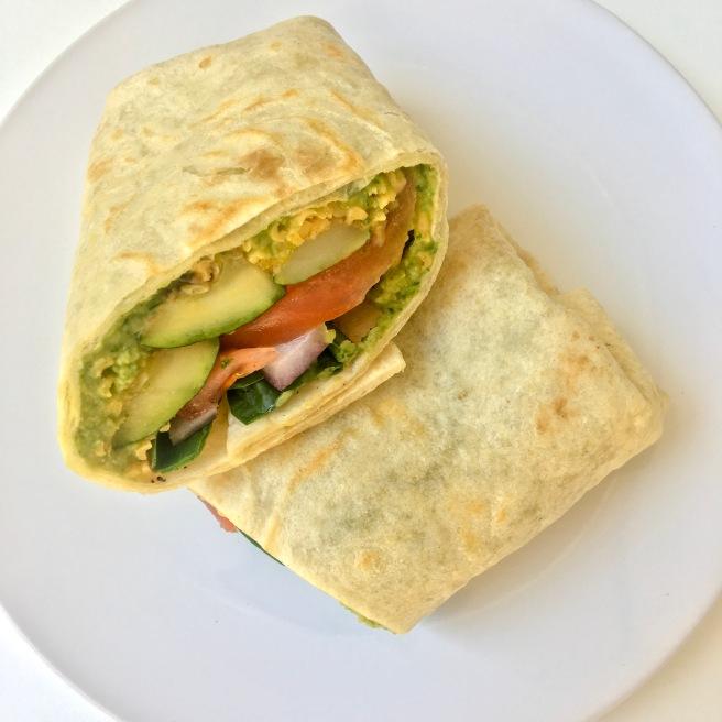 Grilled Zucchini VegetableHummus Burrito