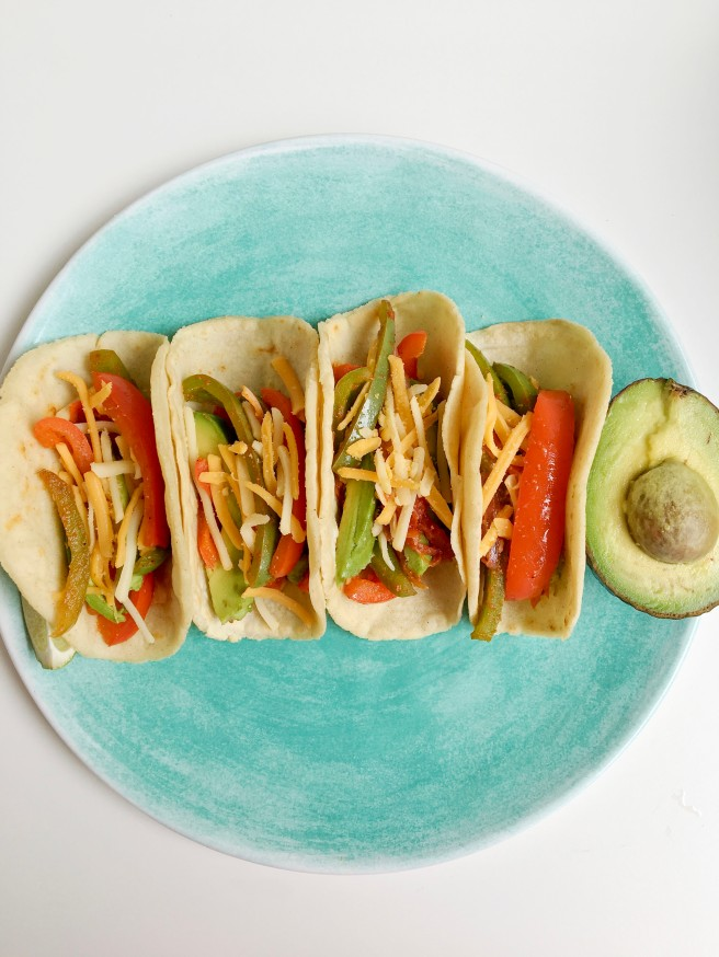 Soft Shell Tacos with Vegan Cheese