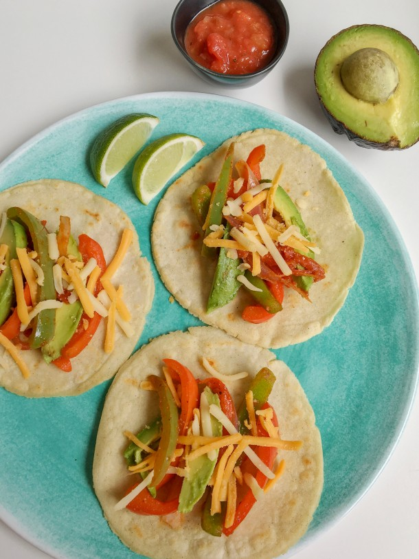 Soft Shell Tacos with Lactose Free Cheese