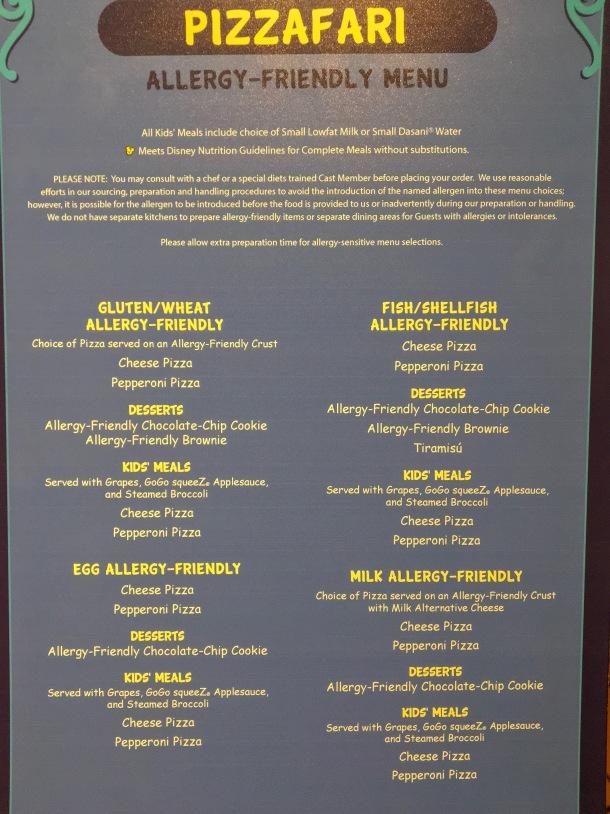 Pizzafari Allergy Menu Disney World.jpeg