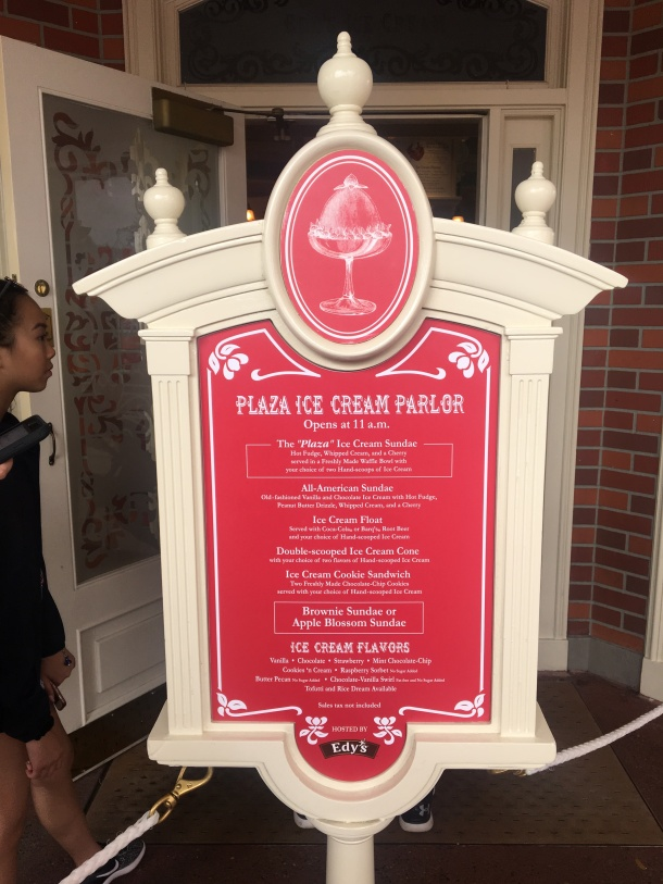 Plaza Ice Cream Parlor Disney World