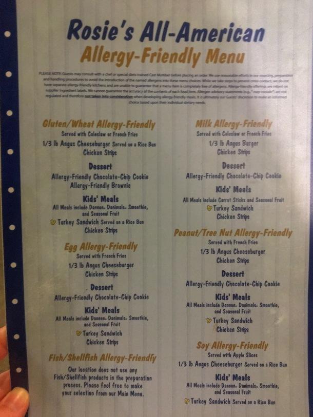 Rosies All American Allergy Friendly Menu Disney World Hollywood Studios.jpeg