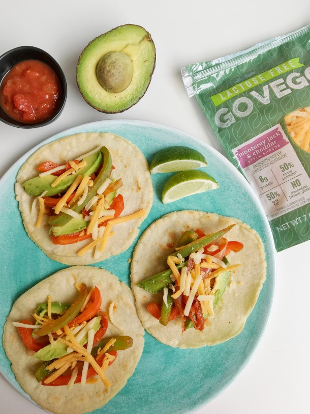 Soft Shell Vegetable Tacos with Avocado and Salsa